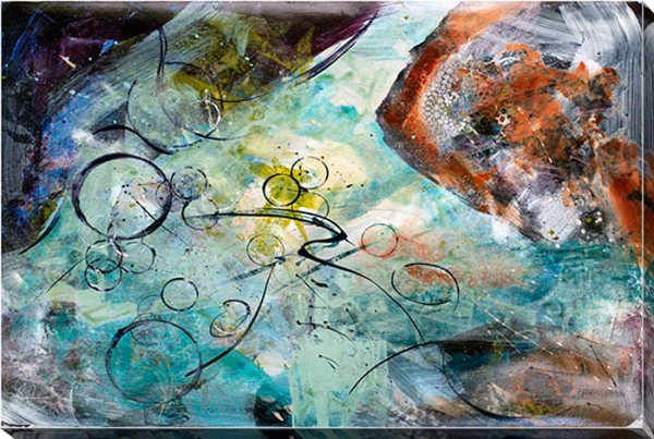 Below the surface - Framed Canvas Art