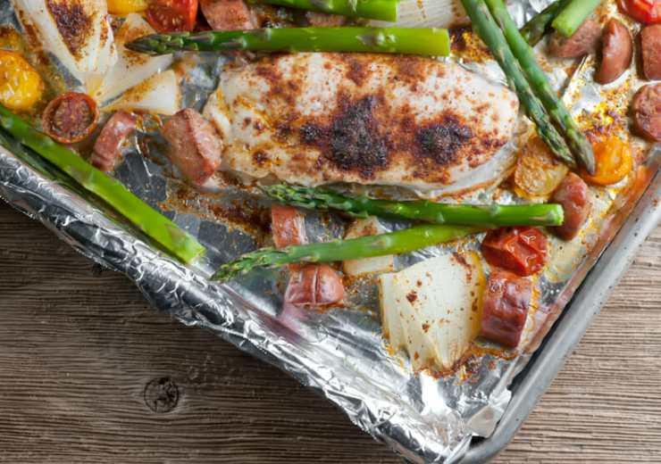 sheet pan chicken and sausage