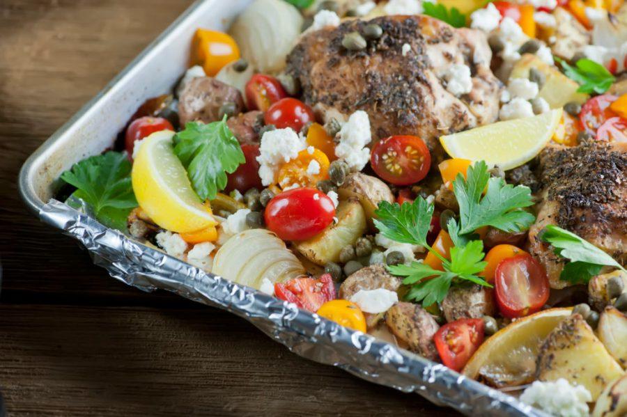 Mediterranean Sheet Pan Chicken