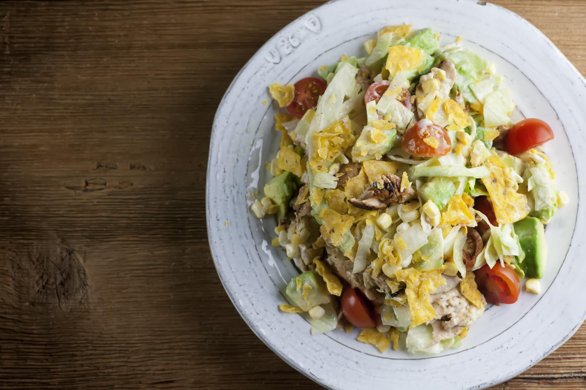 summer bbq chicken salad