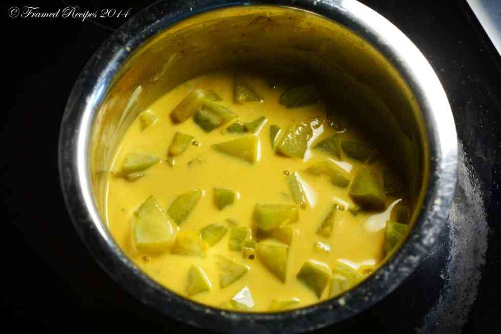 cooked chayote squash.