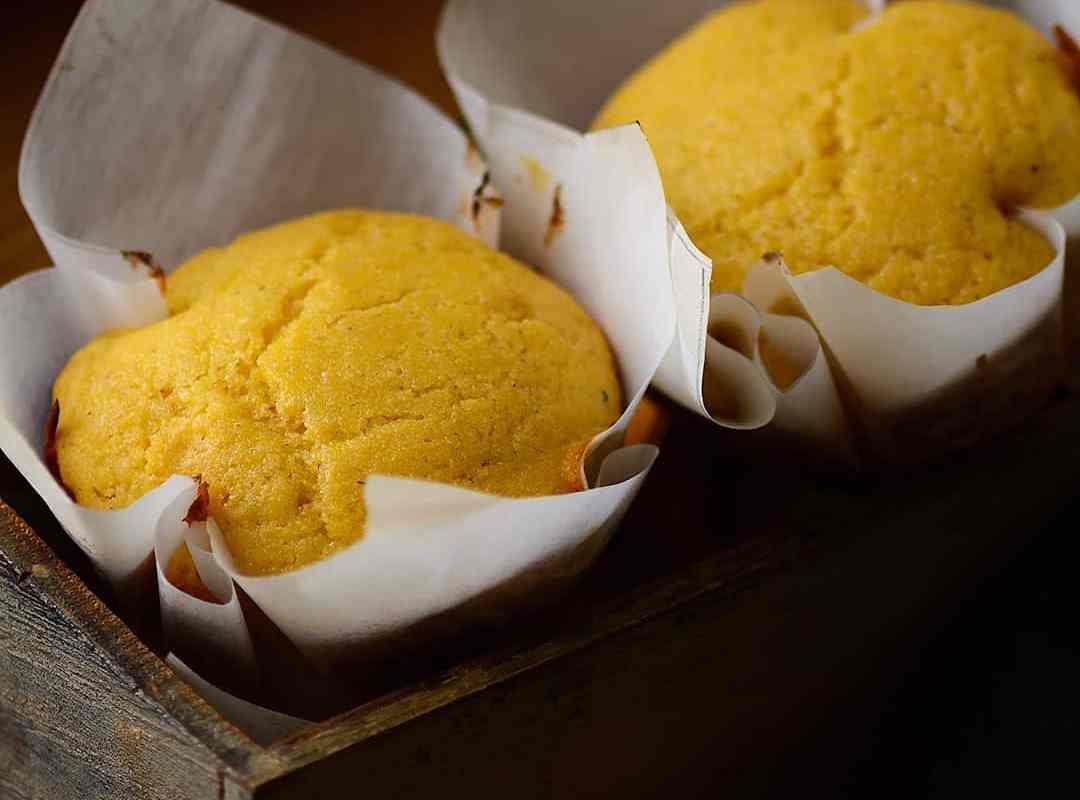 cardamom flavored cornbread muffins