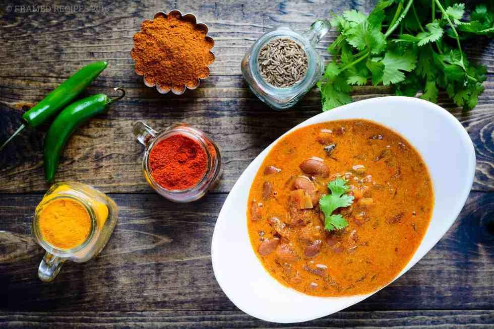 Slow Cooker Rajma Masala Bowl
