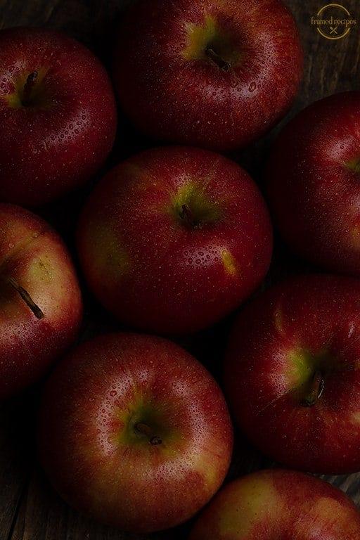fresh apples.