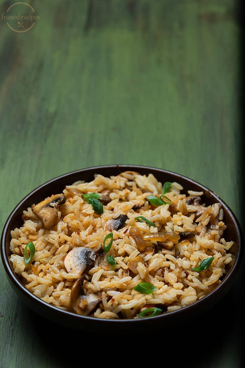 lunch box staple mushroom fried rice