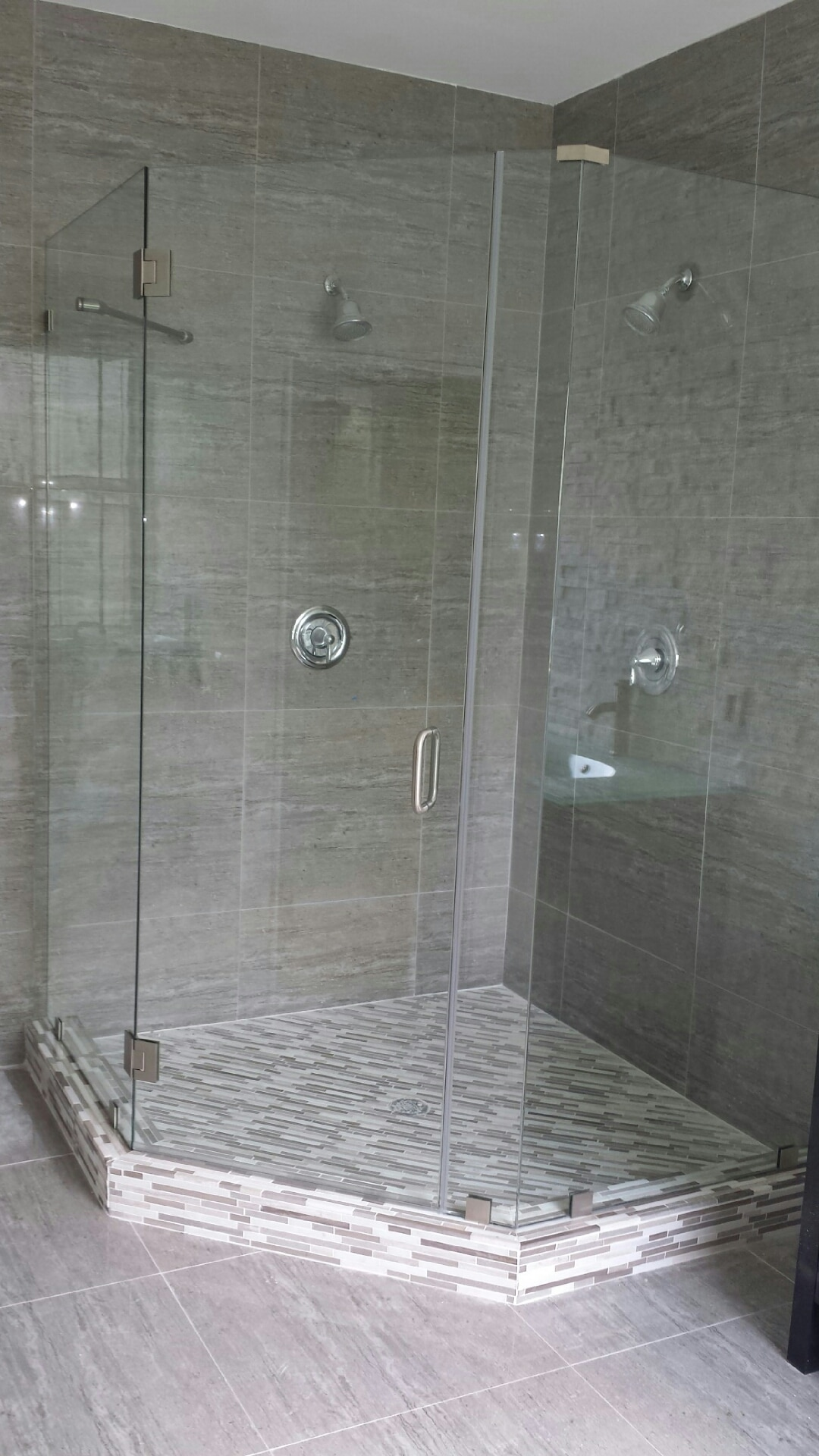 Neo Angle Frameless Shower Doors From Glass By Design