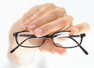 Presbyopia is commonly corrected with bifocal eyeglasses.