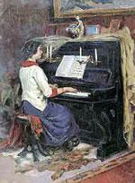 Alessandro Abate, La figlia Giannina al pianoforte