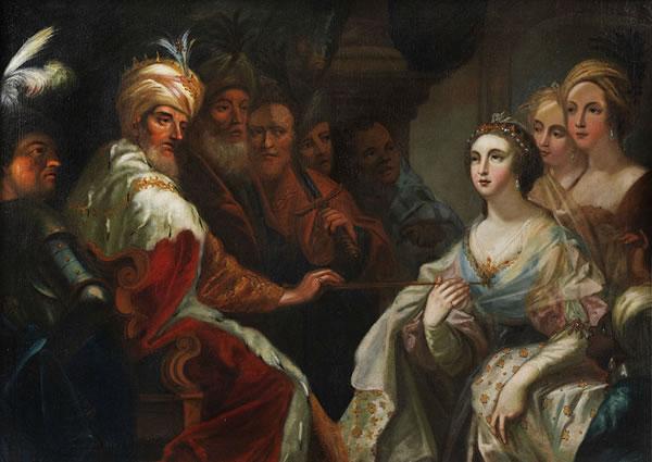 Esther di fronte a re Assuero