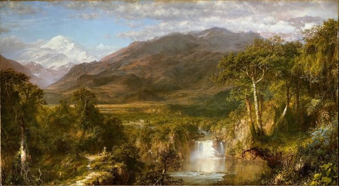 """""""Il cuore delle Ande"""", 1859, Metropolitan Museum di New York"""