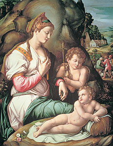Bachiacca: Madonna col Bambino e San giovannino