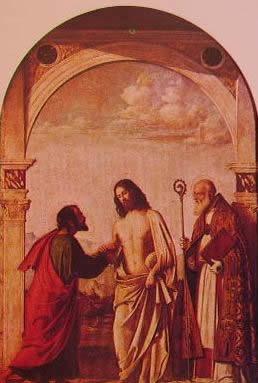L'incredulità di S. Tommaso: Cima da conegliano, 1505 Gallerie dell'Accademia di Venezia