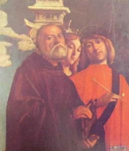 Tre santi: Giovanni Buonconsiglio, 1497 Gallerie dell'Accademia Venezia.