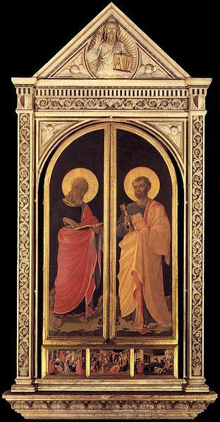 Beato Angelico: Tabernacolo dei Linaioli chiuso