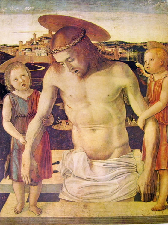 Giovanni Bellini: Cristo morto sorretto da due angeli