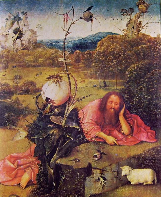 Hieronymus Bosch: San Giovanni Battista in meditazione