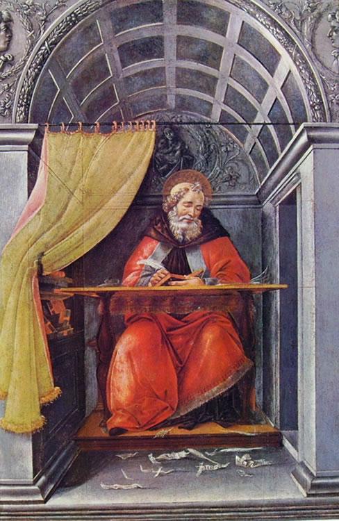 Il Botticelli: Sant'Agostino nello studio