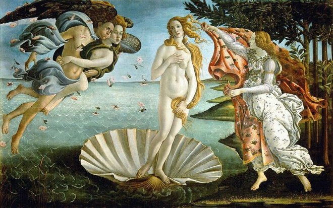 Il Botticelli: La nascita di Venere