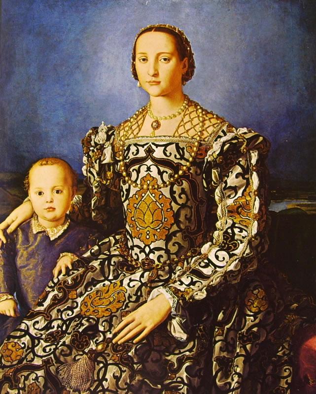 Il Bronzino: Ritratto di Eleonora da Toledo col figlio Giovanni