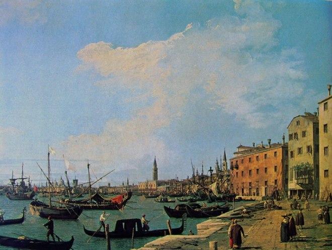 Il Canaletto: Riva degli schiavoni verso San Marco