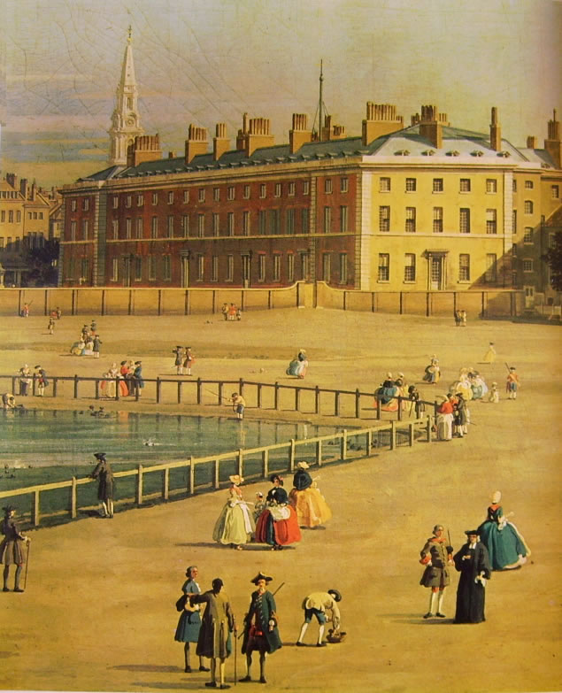 Il Canaletto: La Old Horse Guards da St. James's Park