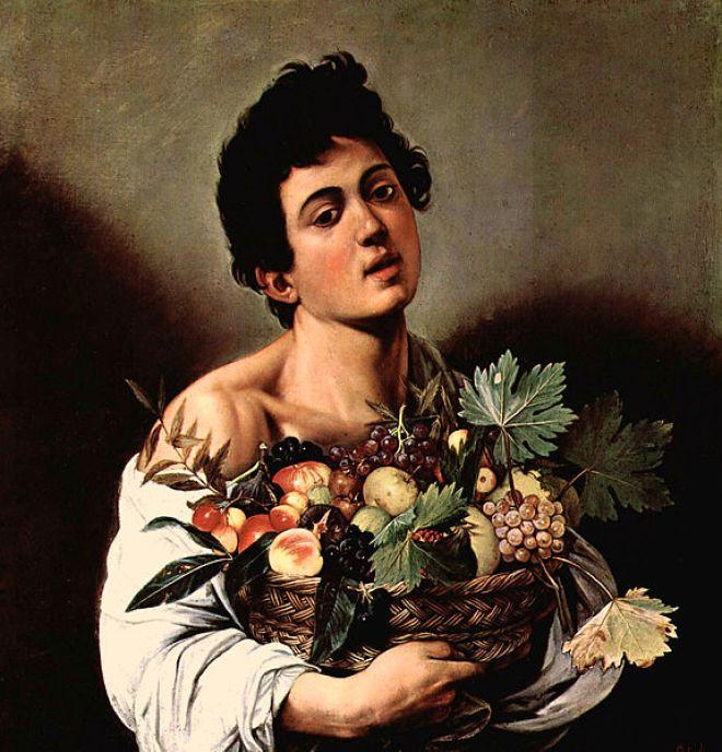 Ragazzo con canestro di frutta, cm. 67 Roma Galleria Borghese