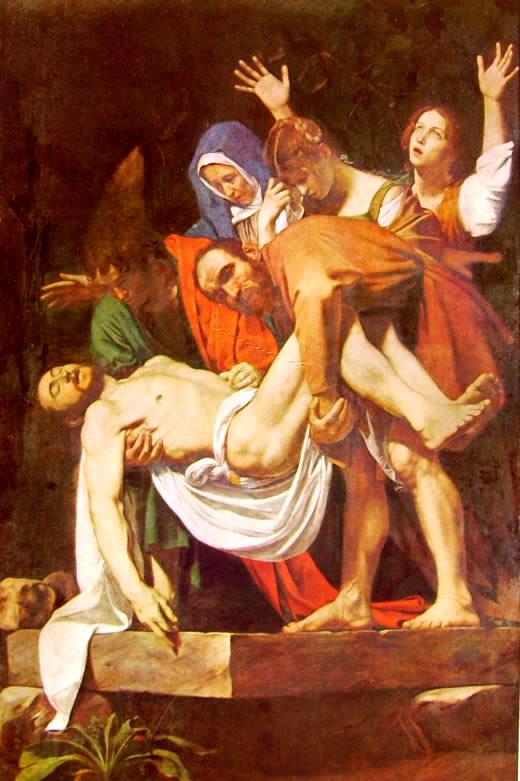 Caravaggio-La deposizione nel sepolcro