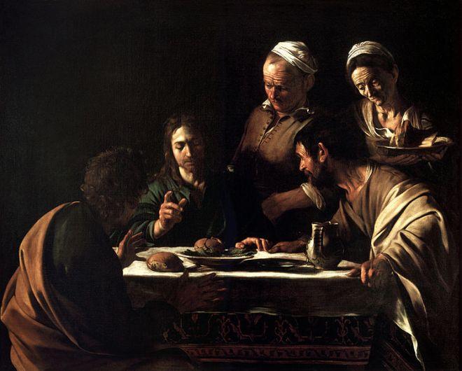 Il Caravaggio: La cena in Emmaus