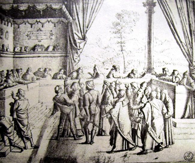 Carpaccio: Santo Stefano in giudizio