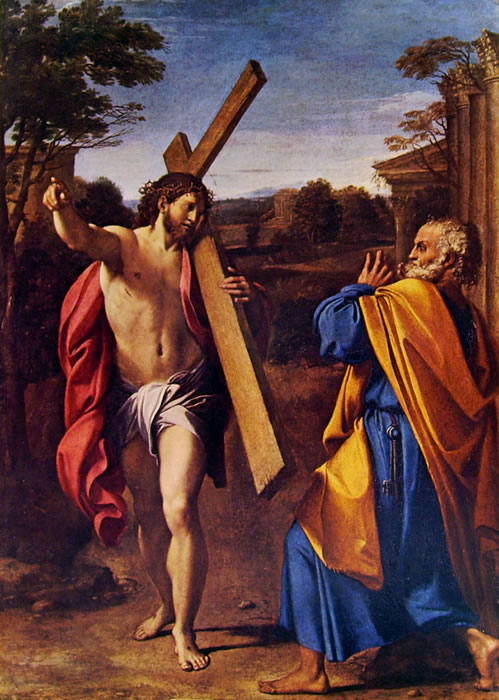 Annibale Carracci: Cristo appare a San Pietro