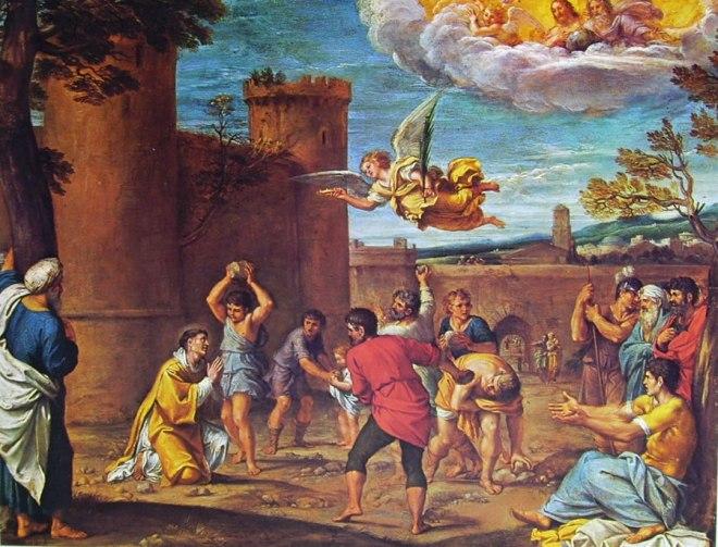 Annibale Carracci: Martirio di Santo Stefano
