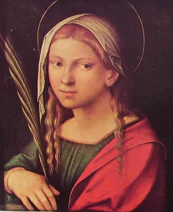 """Correggio: """"Santa Caterina"""""""