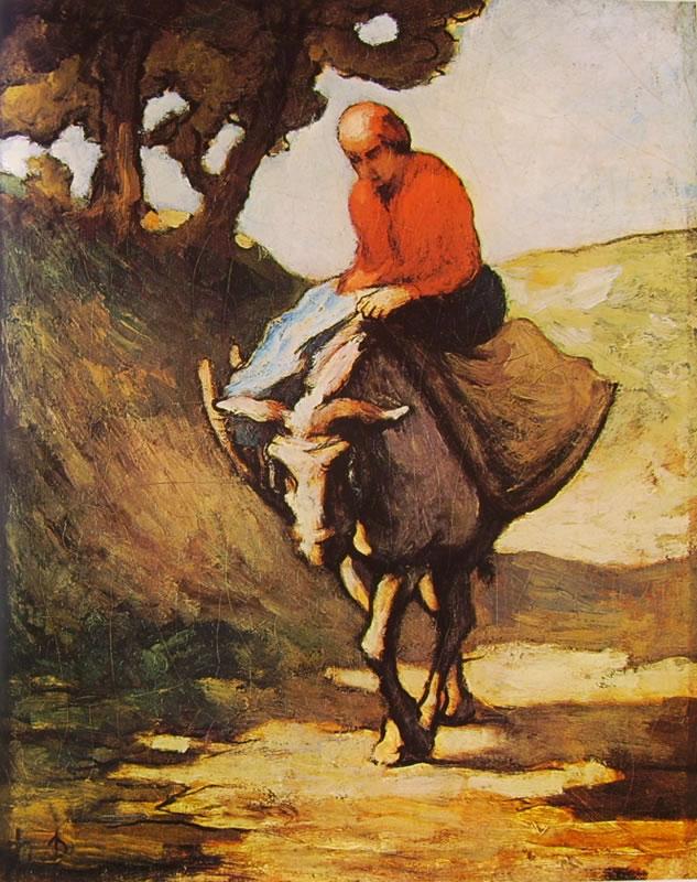 Honoré Daumier: Uomo su un asino