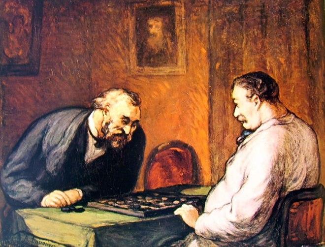 Honoré Daumier: Partita a dama