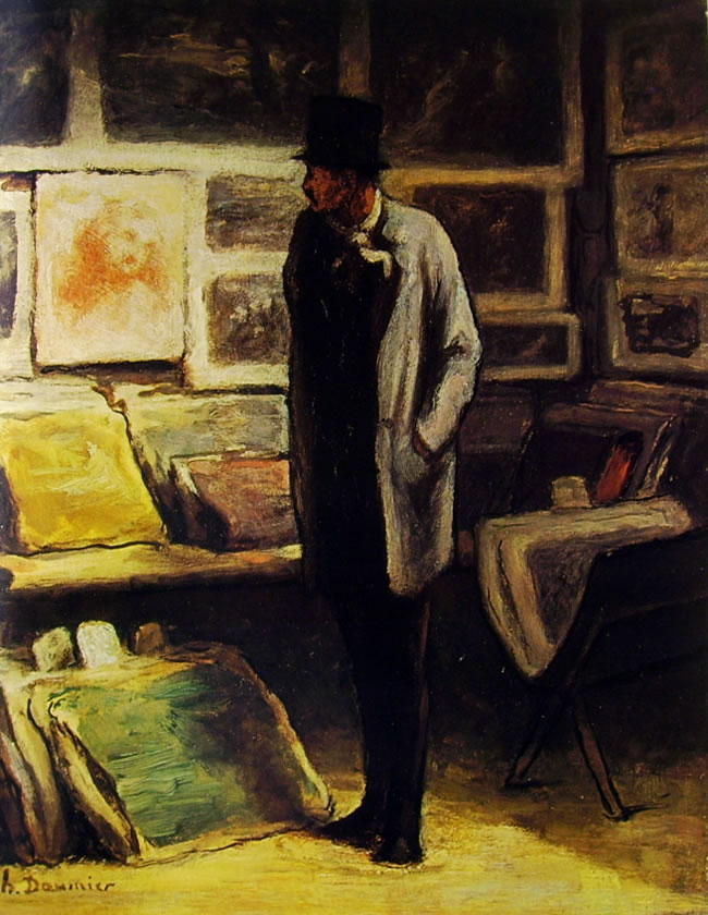 Honoré Daumier: Visitatore a una esposizione