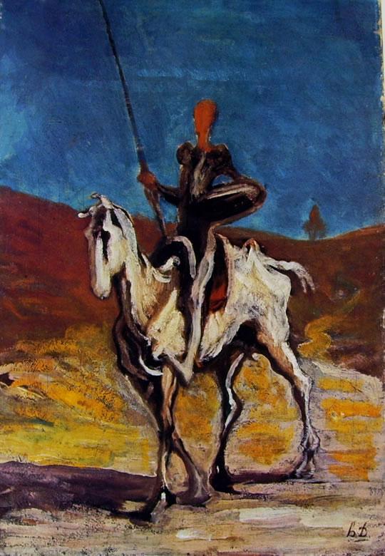 Honoré Daumier: Don Chisciotte
