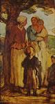 8 Daumier - Donne e bambini sotto un albero