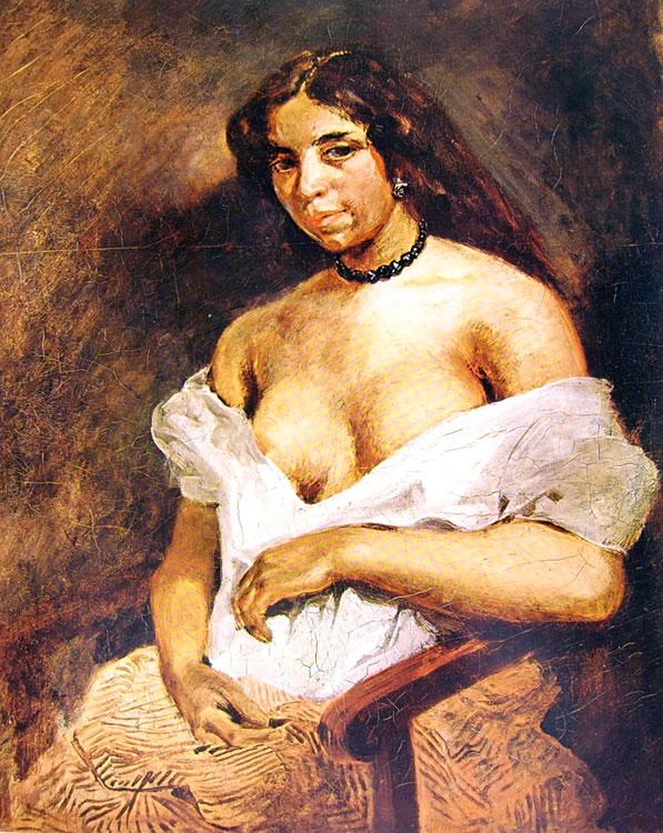 Eugène Delacroix: La mulatta Aline