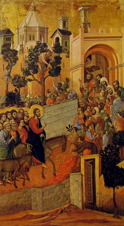 Duccio di Buoninsegna: Maestà - L'ingresso a Gerusalemme