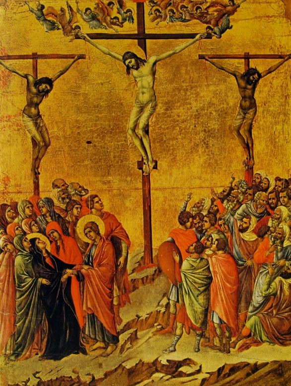 Duccio di Buoninsegna: Maestà - La crocifissione