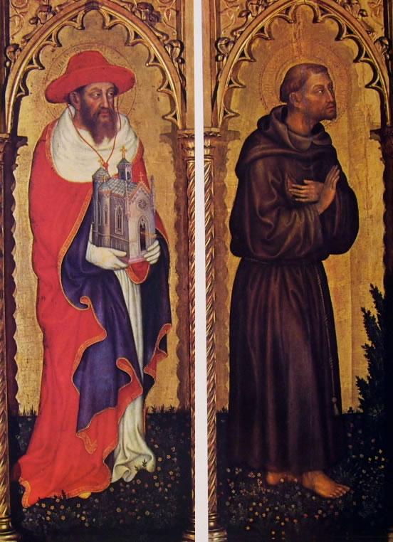 Gentile da Fabriano: Polittico di Valle Romita - I santi Gerolamo e Francesco