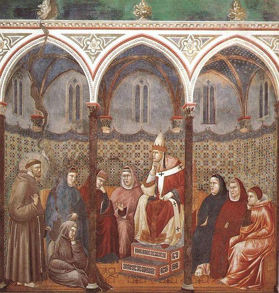 Giotto: La predica dinnanzi a Onorio