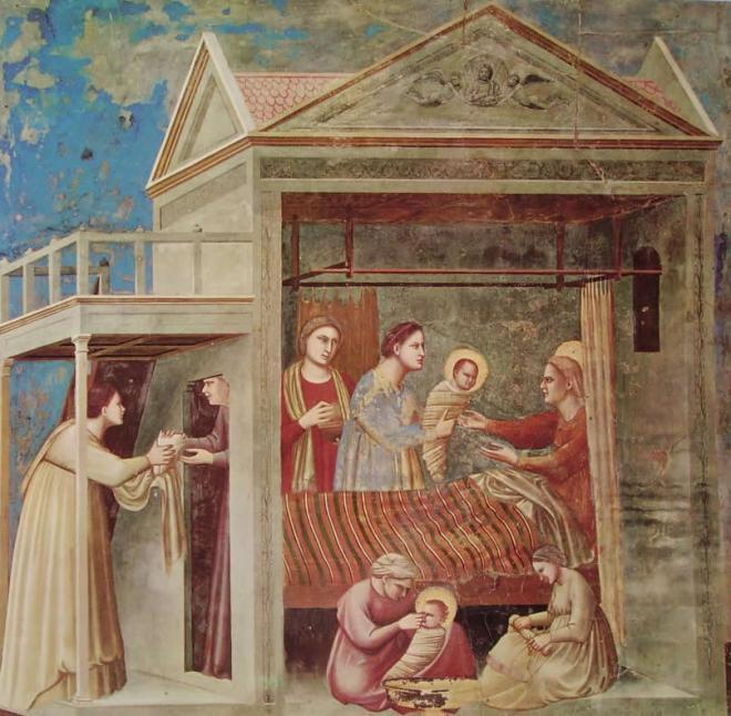 Giotto: La nascita della Madonna