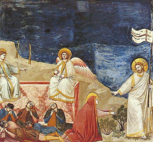 Giotto: La resurrezione