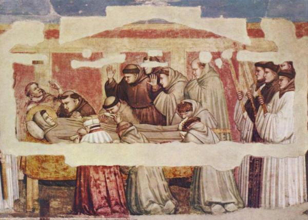 Giotto: I funerali di San Francesco (Cappella Bardi, Santa Croce, Firenze)