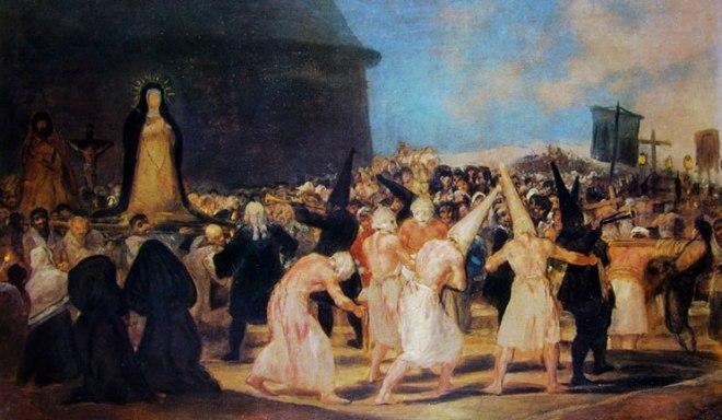 Goya - La processione dei flagellati