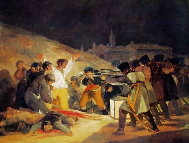 Goya - Il 3 Maggio 1808: Fucilazione alla Montana del principe Pio