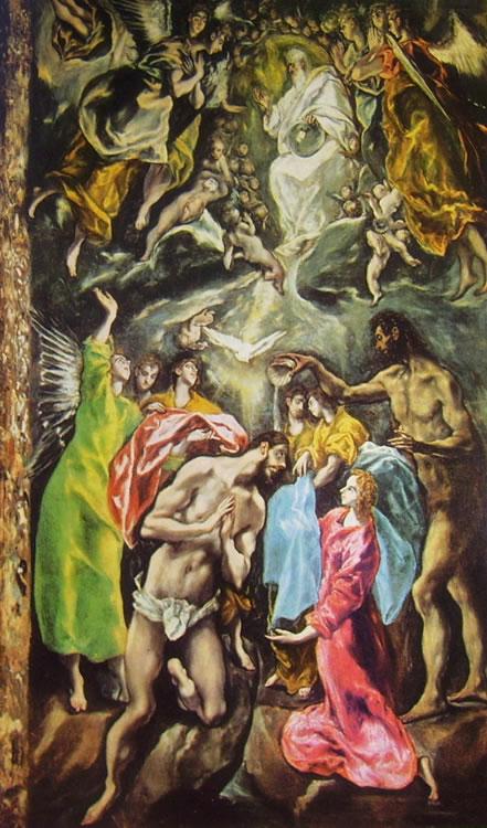 El Greco: Il battesimo di Cristo
