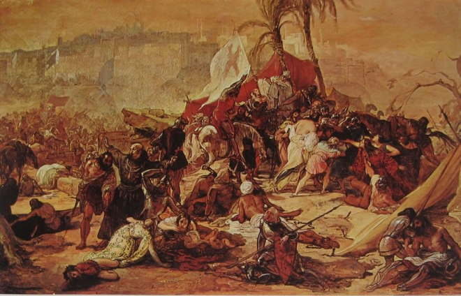 Hayez: La sete dei crociati sotto Gerusalemme