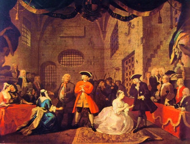 "William Hogarth: Scena dall' ""Opera dei Mendicanti"""